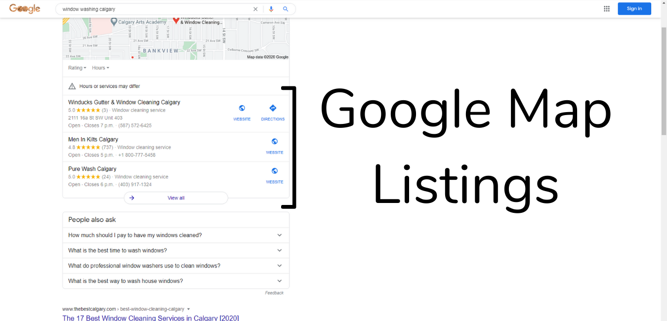 Google Results maps
